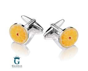 Pomarańcz - spinki do mankietów pomarańczowe