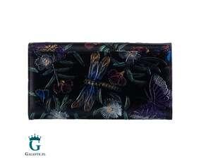 Portfel damski tłoczony w motyle PETERSON FLOWER PR411 RFID