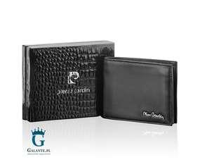 Poziomy portfel męski ze skóry Pierre Cardin