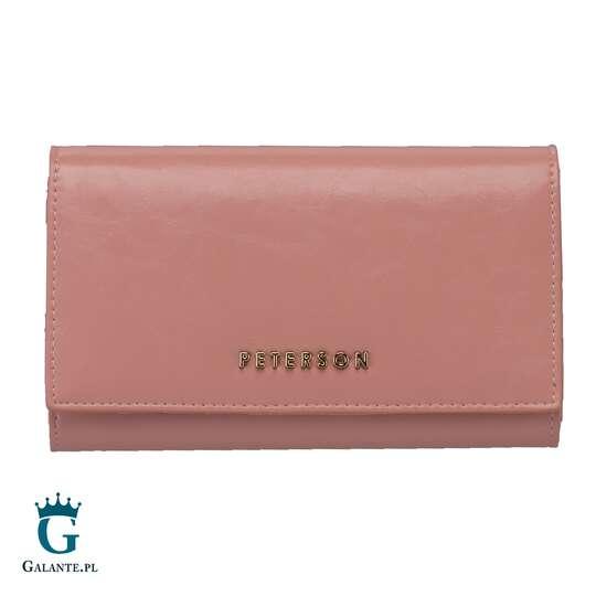 Różowy Portfel Damski PETERSON PL466 z RFID