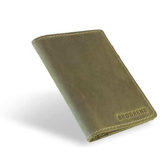 Skórzany Cienki Portfel Slim Wallet Brodrene SW-01