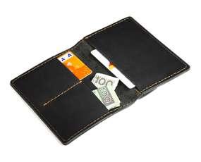 Skórzany Cienki Portfel Slim Wallet Brodrene SW-04