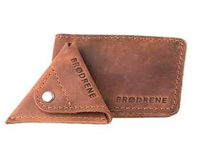 Skórzany Cienki Portfel Slim Wallet Brodrene z Bilonówką SCW-02