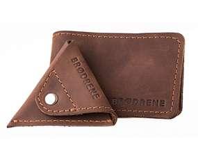 030d8c0ea4232 Skórzany Cienki Portfel Slim Wallet Brodrene z Bilonówką SCW-02