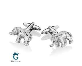 Słonie - spinki do mankietów Słoń
