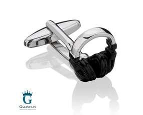 Słuchawki - spinki do mankietów dla melomana
