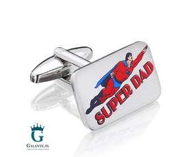 Spinki Super Tata - Prezent dla Taty
