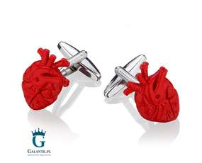 Spinki dla kardiologa - Serce anatomiczne