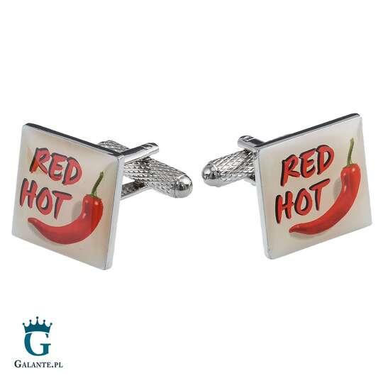 Spinki do mankietów Red Hot Chilli KC-756