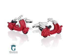 Spinki do mankietów X2 Czerwony skuter