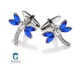 Spinki do mankietów w kształcie motyli