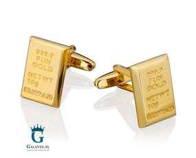 Sztabki złota - spinki do mankietów