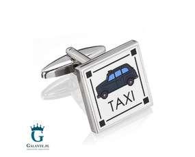 Taxi - spinki do mankietów dla taksówkarza