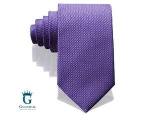 Włoski krawat jedwabny fioletowy Arcuri 14805-6