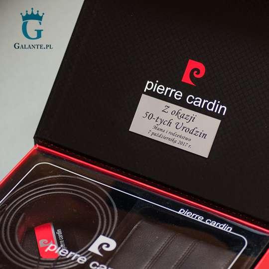 Zestaw prezentowy Pierre Cardin Portfel i Pasek Męski ZG-10