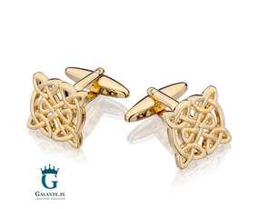 Złote spinki Celtic Gold SD-2037