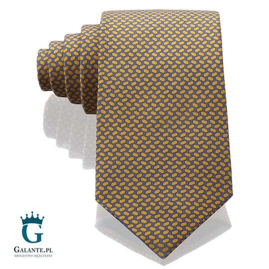 Złoty krawat jedwabny Arcuri 14801-16