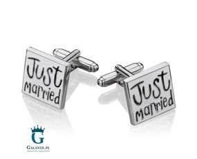 ślubne spinki do mankietów - Nowożeńcy