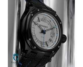 Zegarek męski Bisset BSCD25BS z białą tarczą
