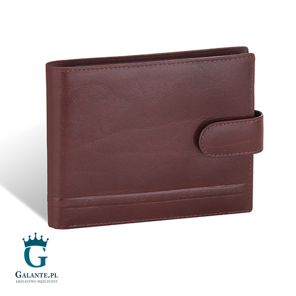 446a382a5f24b Brązowy portfel męski na karty zbliżeniowe Valentini 152-293. ‹ ›