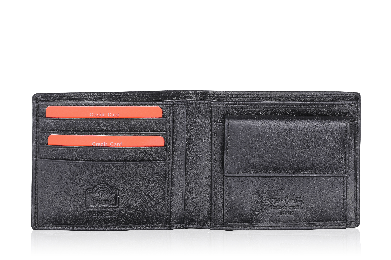 a8bf16f432989 Czarny portfel męski Pierre Cardin TILAK09 8805 RFID