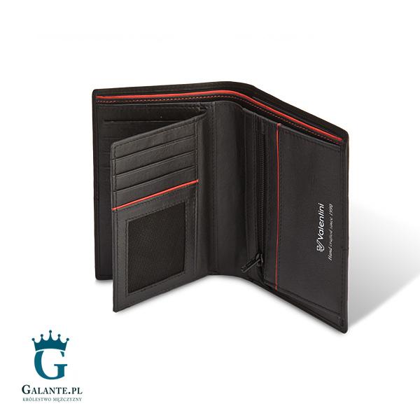 ce4ad7a62d9de Portfel męski Valentini Ferrari Red   Black 154-265