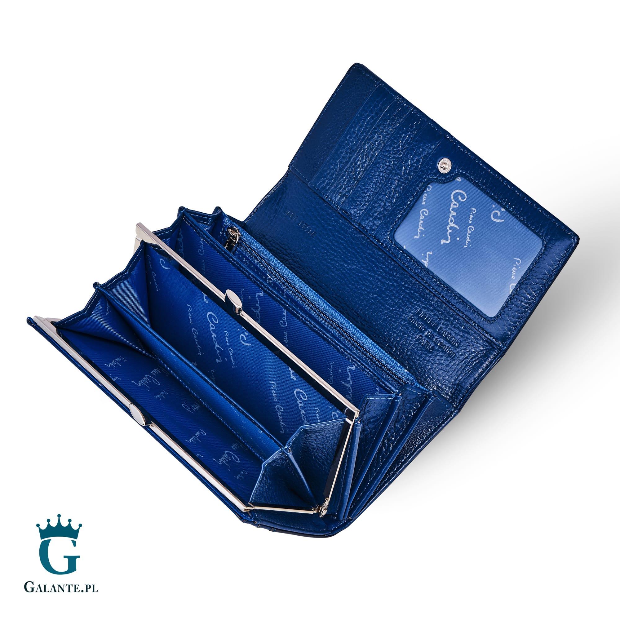 4f664dec38ae9 Damski portfel Pierre Cardin Klasyczny Duży na zatrzask 05 LINE 100. ‹ ›