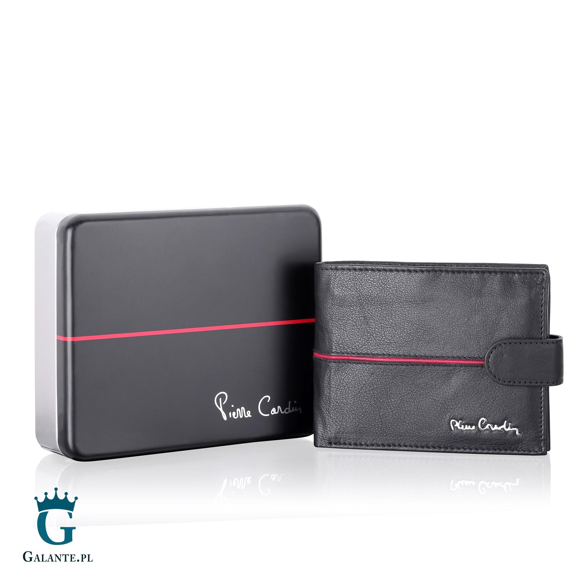 048a2b1c3d0ea Portfel Męski Pierre Cardin Black Red GA02 324A