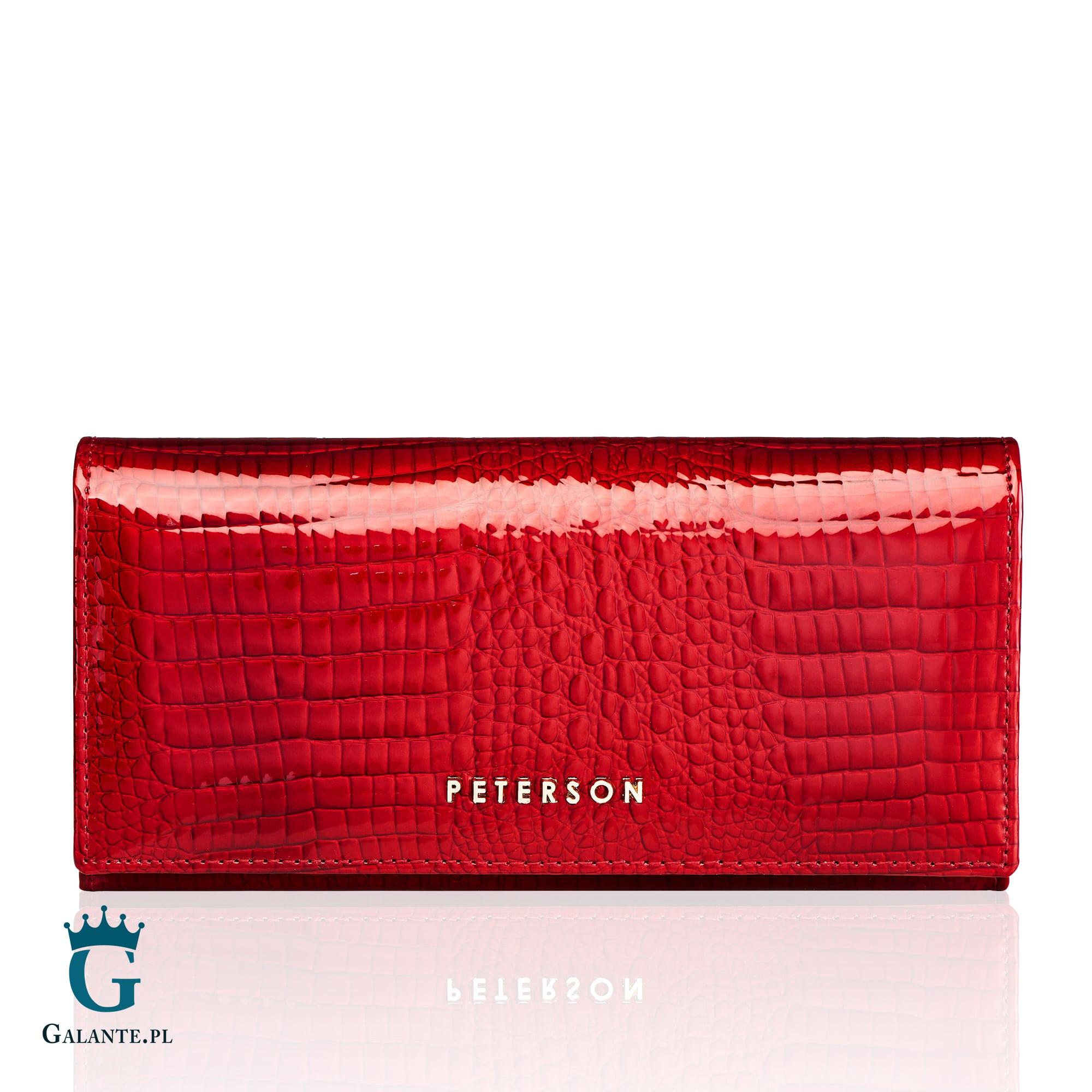 93d7c561a300d Skórzany Portfel Damski Peterson AE467 Red. ‹ ›