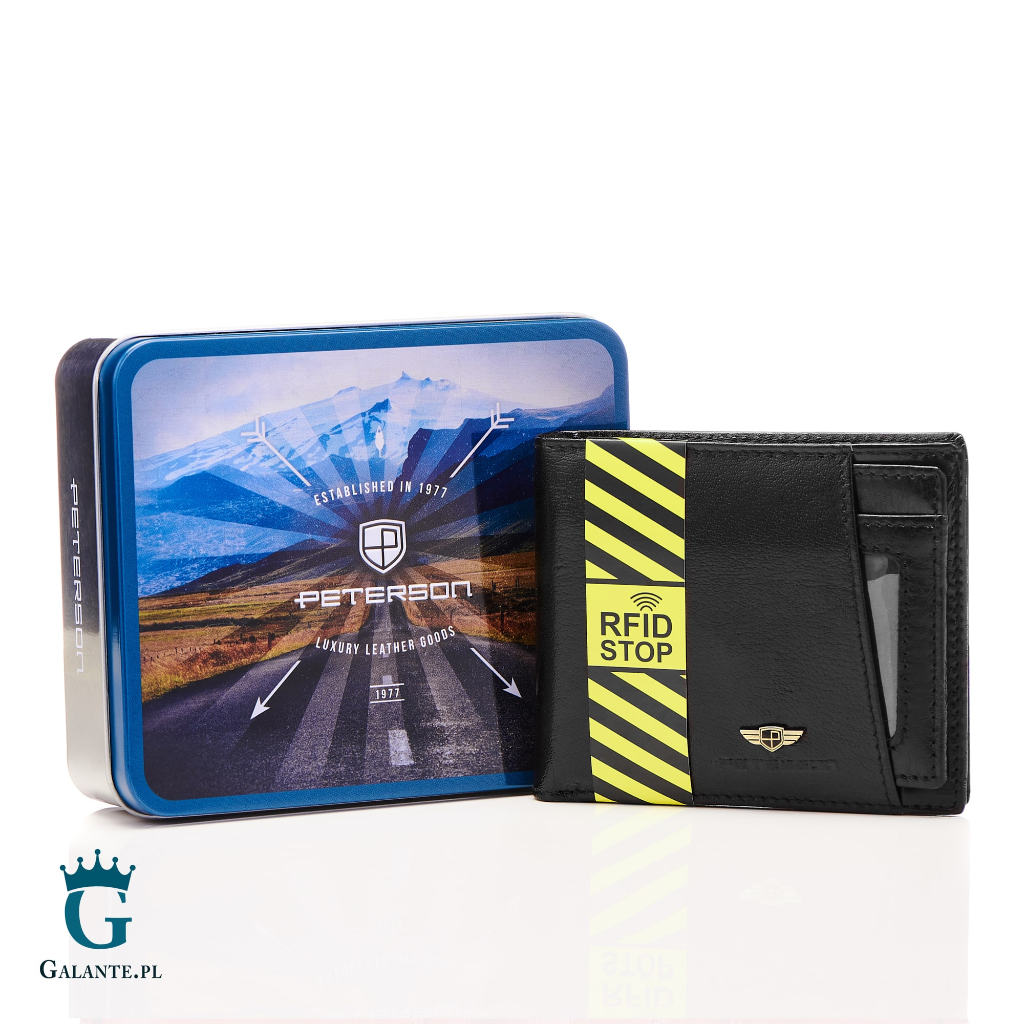 7e21da5f40fc5 Skórzany Portfel PETERSON z wkładką na karty 381 RFID | Sklep Galante.pl