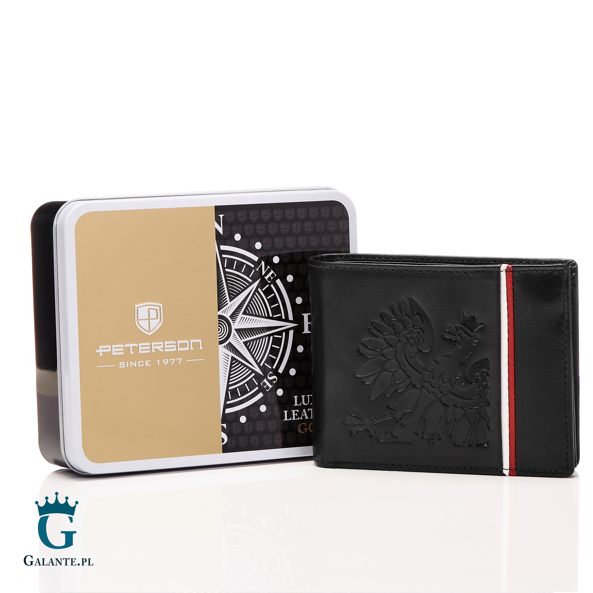 36f86f46b86ea Nasz ranking otwiera skórzany portfel Peterson z kolekcji Patriotic w cenie  129 złotych. Jest to gratka dla każdego kto ceni sobie polska tradycję, ...